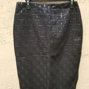 Ny & Co. Pencil Skirt with metallic accents